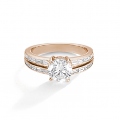 1912 18k Rose Gold and .46TW Diamond Engagement Mounting Ring