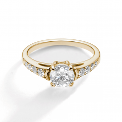 1912 18k Yellow Gold and .25TW Diamond Engagement Mounting Ring
