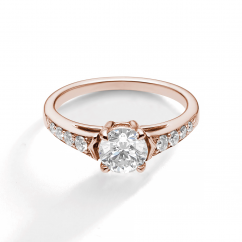 1912 18k Rose Gold and .25TW Diamond Engagement Mounting Ring