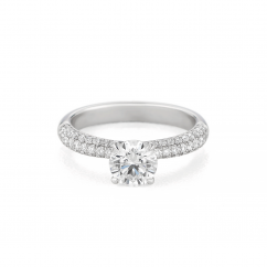 Grace 18k White Gold and Diamond Engagement Mounting Ring