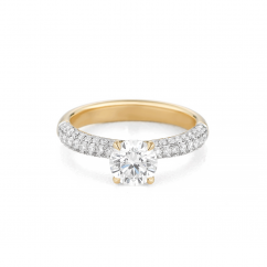Grace 18k Yellow Gold and Diamond Engagement Mounting Ring
