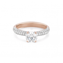 Grace 18k Rose Gold and Diamond Engagement Mounting Ring