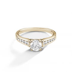 Hamilton Cherish Channel Set 18k Yellow Gold and Diamond Ring