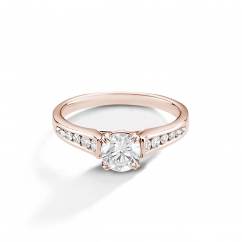 Hamilton Cherish Channel Set 18k Rose Gold and Diamond Ring
