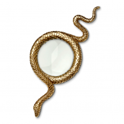 L'Objet Gold Snake Magnifying Glass