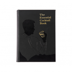 Essential Cocktail Book Genuine Leather