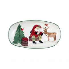 Old St. Nick 2019 Limited Edition Handled Shallow Oval Bowl