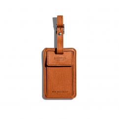 Shinola Bourbon Leather Luggage ID Tag