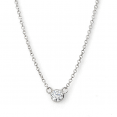 14k White Gold Childs First Hamilton Diamond Necklace