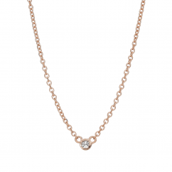 14k Rose Gold Childs First Hamilton Diamond Necklace