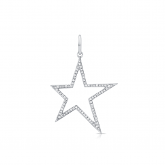 14k White Gold and Diamond Shooting Star Charm