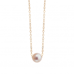 14k Gold 6mm Hamilton Design A Pearl Necklace