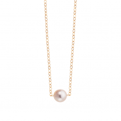14k Gold Hamilton Design A Pearl 7mm Necklace