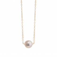 14k Gold Hamilton Design A Pearl 5 1/2mm Necklace