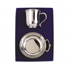 Hamilton Pewter Cup and Porringer