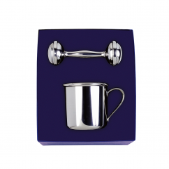 Hamilton Pewter Cup and Rattle Set