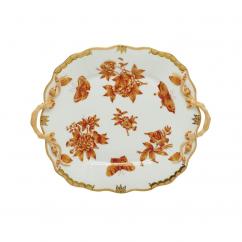 Herend Fortuna Rust Cake Plate