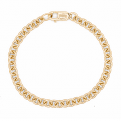 Hamilton 14k Yellow Gold 5.4mm Charm Bracelet