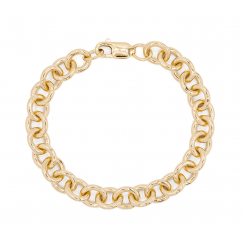 Hamilton 14k Yellow Gold 9.75mm Charm Bracelet