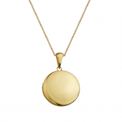 14k Gold 19mm Round Locket