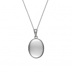 14k White Gold Oval 22mm Locket