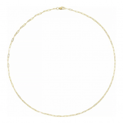 """14k Yellow Gold Small 1.95mm Long Link Chain 16"""" Necklace"""