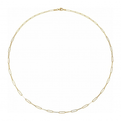 """14k Yellow Gold Medium 2.6mm Long Link Chain 16"""" Necklace"""