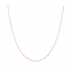 """14k Rose Gold Small 1.95mm Long Link Chain 16"""" Necklace"""