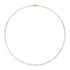 "14k Rose Gold Medium 2.6mm Long Link Chain 16"" Necklace"