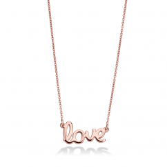 14k Rose Gold Love Pendant
