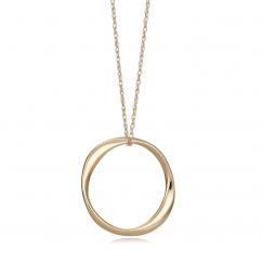 Classic 14k Gold Circle Pendant