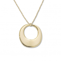 14k Yellow Gold Freeform Circle Pendant