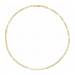 """14k Yellow Gold Large 3.85mm Long Link Chain 18"""" Necklace"""