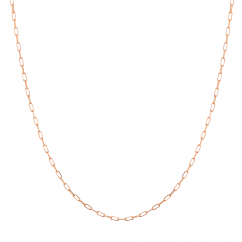 """14k Rose Gold Small 1.95mm Long Link Chain 18"""" Necklace"""