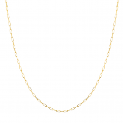 """14k Yellow Gold Small 1.95mm Long Link Chain 18"""" Necklace"""