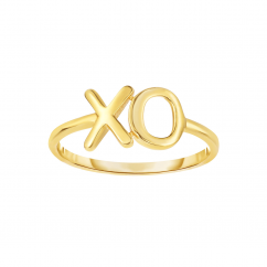 Classic 14k Gold X and O Ring
