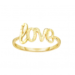 Classic 14k Yellow Gold Love Ring