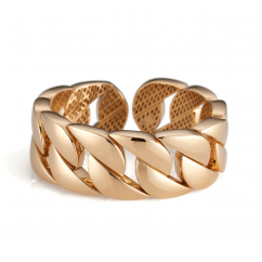 18k Yellow Gold Link Cuff Bracelet