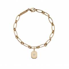 StoryTelling 18k Gold and Hexagon Charm Bracelet