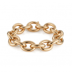 Classic 18k Yellow Gold Medium Link Bracelet