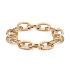18k Gold Medium Oval Link Bracelet