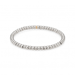18k White Gold and 4mm Bead Bracelet