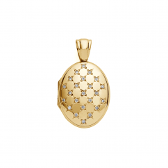 18k Gold and Diamond 25mm Locket