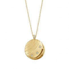 18k Yellow Gold and Diamond Star Locket
