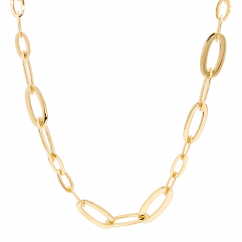 18k Yellow Gold 28 Inch Necklace and Bracelet