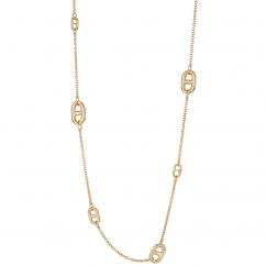 Classic 18k Yellow Gold Mariner Link Necklace