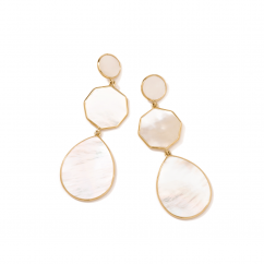 Ippolita Crazy 8 18k Gold and Pearl Earrings