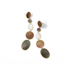 Ippolita Rock Candy 18k Gold and Mixed Gemstones Linear Earrings