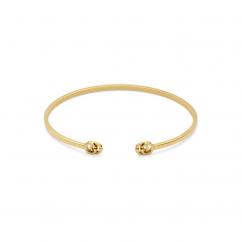 Gucci 18k Yellow Gold Double G Bracelet