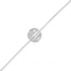 Marli 18k White Gold Avenue Diamond Chain Bracelet